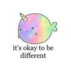If we were all the same ... It'd be a little bit boring ✌️Rock your inner rainbow beluga whale unicorn xxo #unicorns #beyou #love #instagood #happy