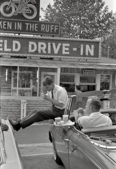 JFK at a drive in