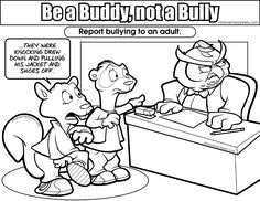 Bully Not Buddy Coloring Pages Kids | Bullying | Pinterest | School ...