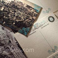 Photo Postcard Escort Cards