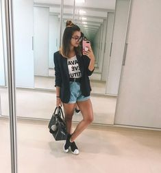 Casual Chic Outfits, Blazer Outfits, Cute Outfits, Casual Dresses, Girl Fashion, Fashion Looks, Fashion Outfits, Looks Adidas, Outfits Primavera