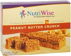 NutriWise - Peanut Butter Crunch Diet Protein Bars (7 bars) * Tried it! Love it! Click the image. : Bars Snacks Weight loss dietry