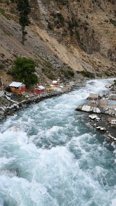 Its a Beautiful River Along the Mountains in Swat Valley. Such a Beautiful Place ⛰️💖 Nature Gif, Nature Tree, Nature Images, Nature Pictures, River Pictures, Beach Wallpaper, Nature Wallpaper, Beautiful Gif, Beautiful World
