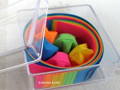 Origami Lucky Stars Paper Strips Favor Box by KatherinaKrafts, $5.00