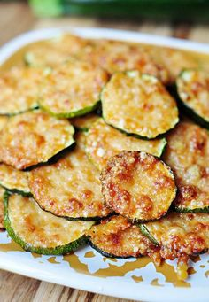"""Baked Parmesan Zucchini Rounds"" Made these tonight to accompany our steak and salad dinner. Soooo good and easy. Finally a delicious go to recipe for the piles of zucchini my neighbor gives us! Low Carb Recipes, Cooking Recipes, Healthy Recipes, Free Recipes, Cooking Pasta, Atkins Recipes, Cooking Bacon, Grilling Recipes, Vegetable Recipes"
