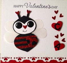 Punch Art Valentine's handmade card by Wanda Perez