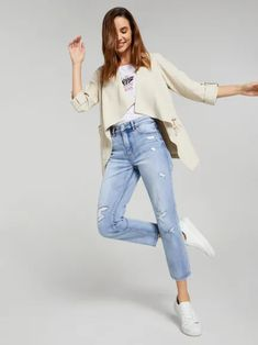 Just Jeans women's Jackets range is the perfect extra layer. Shop leather jackets, denim jackets, biker jackets, blazers and more to cover all bases. Pu Jacket, Leather Jacket, Lee Denim, Summer Kimono, Denim Blazer, Mom Jeans, Biker, Jackets For Women, Normcore