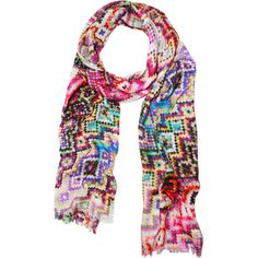 A bold finishing touch for understated ensembles, this eye-catching scarf showcases a mosaic motif.   Product: Scarf...