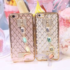 3D Bling Plating Rhinestone Chain Silicone Soft Case Cover For iPone 6 6S Plus   eBay