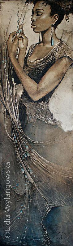 'Story Weaver' | Art of Lidia Wylangowska | http://www.lidiawylangowska.com