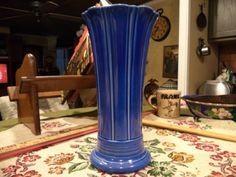 Contemporary Fiesta Ware Cobalt Blue Vase