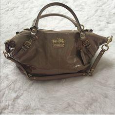 Coach Purse Nude patent leather Coach purse Coach Bags Shoulder Bags