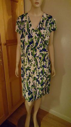NWT  Jones New York bold print body con ruched dress  size L ($129.00) #JonesNewYork