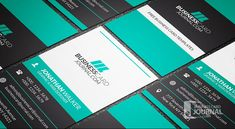 Free Bold & Contrasting Vertical Business Card Template » Business Card Journal