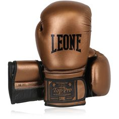 Leone 1947 Women 10oz Metallic Leather Boxing Gloves (£92) ❤ liked on Polyvore featuring bronze