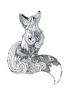 fox coloring page - Fox Coloring Pages