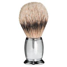 The Art of Shaving - Engraved Silvertip Badger Brush - Shaving Brushes