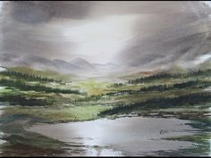 Wilderness painting demo in watercolour - YouTube