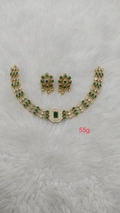 Emerald Jewelry, Diamond Jewelry, Beaded Jewelry, Silver Jewelry, Jewelry Necklaces, Antique Gold, Antique Jewelry, Necklace Set, Gold Necklace
