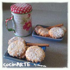 Galletas de canela   CocinARTE by Ainaralo Super Cookies, Eat Pray Love, Whoopie Pies, Churros, Macaroons, Cookie Bars, Christmas Cookies, Food And Drink, Favorite Recipes