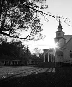 The Old Methodist Church at Sun Rise.
