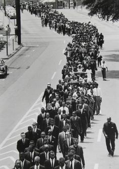 Before the funeral of Medgar Evers, about 5,000 people marched through the streets of Jackson, Mississippi. Thereafter, as a WWII veteran, Evers was buried at Arlington Cemetery.