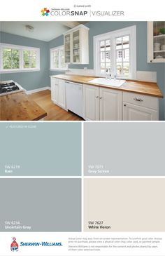 I want my house these colors. They feel beachy and cheerful. I want my house these colors. They feel beachy and cheerful. I want my house these colors. They feel beachy and cheerful. I want my house these colors. They feel beachy and cheerful. Kitchen Paint Colors, Paint Colors For Home, Beachy Paint Colors, Blue Gray Paint Colors, Laundry Room Colors, Home Interior Colors, Kitchen Ideas Color, Kitchen Color Schemes, Teal Kitchen Walls