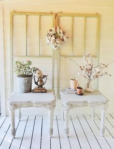 Shabby Chic Side Table, Shabby Chic Decor, White Nightstand, Dresser With Mirror, Furniture Wax, Living Room Furniture, White Side Tables, Light Covers, Solid Wood