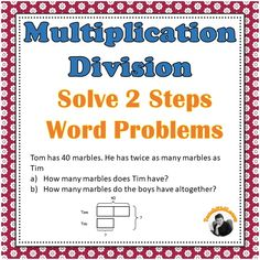 Multiplication division worksheets 3rd 4th grade bar modelstape multiplication division 2 steps word problems 3rd 4th grade bar models ccuart Choice Image