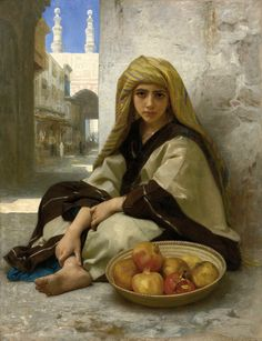 """classic-art: """" The Pomegranate Seller William Adolphe Bouguereau, 1875 """""""