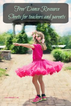 Fun Free Dance Resource and lesson plan for teachers and parents.