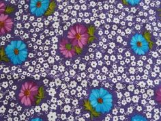 vintage purple cotton crepe fabric