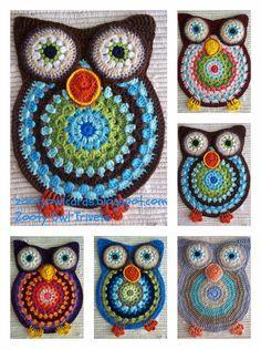 Owl crochet Tutorial -Teresa Restegui http://www.pinterest.com/teretegui/ ..,these would make adorable coasters!!!