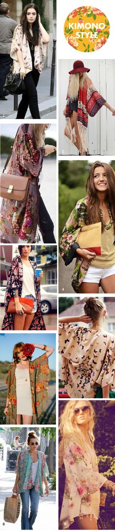 kimono street style inspiration / The Sweet Escape
