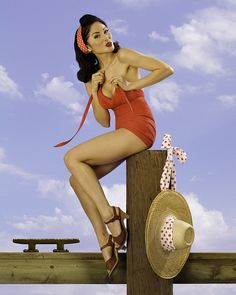 love the shoes of this pin up girl