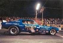 Jungle Jim's Funny Car at lions dragstrip