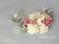 《new》//ペッパーベリーとあじさいのふわふわヘッドドレス//おしゃれweddingこだわり結婚式の髪飾り //|ヘッドドレス(ウェディング)|atelier mof|ハンドメイド通販・販売のCreema