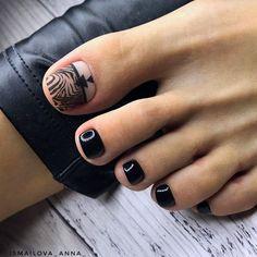 Black Toe Nail Colors To Finish A Stylish Look 40 Amazing Toe Nail Colors T - . Purple Pedicure, Manicure Y Pedicure, Green Nail Designs, Toe Nail Designs, Best Toe Nail Color, Nail Colors, Black Toe Nails, Black Nail, Feet Nails