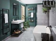 Have you seen the new Noir Collection of contemporary bathroom fixtures and fittings from Bathstore and Elle Decoration? I spotted it in my latest copy Bathroom Interior Design, Bathroom Fixtures, Elegant Bathroom, Modern Bathroom, Bathroom Colors, Elle Decor, Luxury Bathroom, Bathrooms Remodel, Black Bathroom