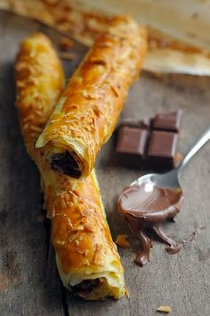 Crunchy Nutella and dark chocolate fingers