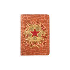 Repubblica Italiana Rosso Oro Passport Holder