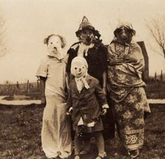 This photo from the early 1900s, with costumes made from flour sacks and tablecloths, is as stunning and frightening as anything seen today....Check out this awesome & spooky WorthPoint article!