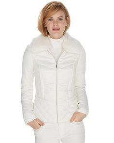 65e440d1a7a2c Slim-fitting puffer jacket has a silken touch and a soft