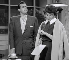 C'mon baby...button up that shirt and let's get home! Raymond Burr and Barbara Hale once again committing intense chemistry as Perry Mason and Della Street!