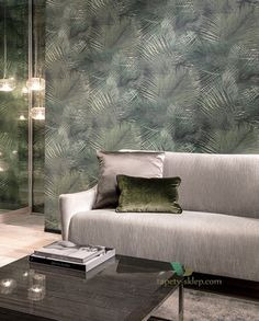 Create a stylish and tropical feel on your walls with 'Shield' from the Avalon collection at featuring a detailed palm leaf print made from woven grass, the design is dynamic and intense. How To Make Curtains, Made To Measure Curtains, Living Room Grey, Living Room Decor, Arte Wallcovering, Style Tropical, Design Food, Home Upgrades, Wallpaper Online
