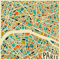 Jazzberry Blue Cartes Plans Abstraits Villes 2 Jazzberry Blue : Cartographies Abstraites des Grandes Villes