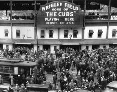 Twitter / BeschlossDC: Here is Wrigley Field at the time of the 1935 World Series - Chicago Cubs vs. Detroit Tigers.