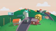 flat design, textured animation, slick keyframe animation, fluid transitions