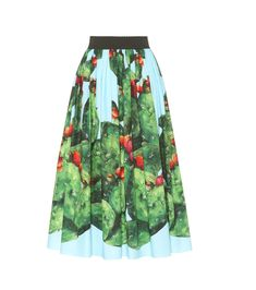 Dolce & Gabbana - Exclusive to mytheresa.com – printed cotton skirt - Add a heavy dose of personality to your summer edit with mytheresa.com's exclusive capsule collection from Dolce & Gabbana. This high-waisted skirt has been crafted in Italy from cotton poplin and is printed with the vibrant prickly pears found in Sicily and Capri. Tuck in your blouse to show off the striking detail in full. seen @ www.mytheresa.com