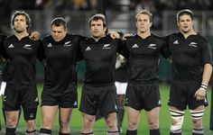 Conrad Smith, Tony Woodcock, Andrew Hore, Jimmy Cowan and Richie McCaw of the All Blacks